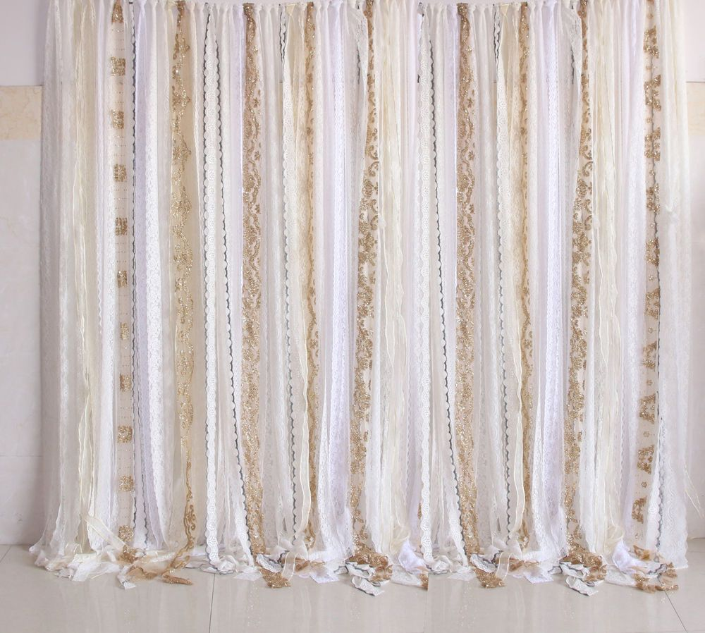 Details About Shabby Boho Chic Curtain Wedding Party Baby