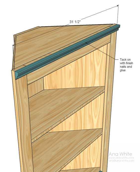 Ana White Build A Corner Cupboard Free And Easy Diy Project And