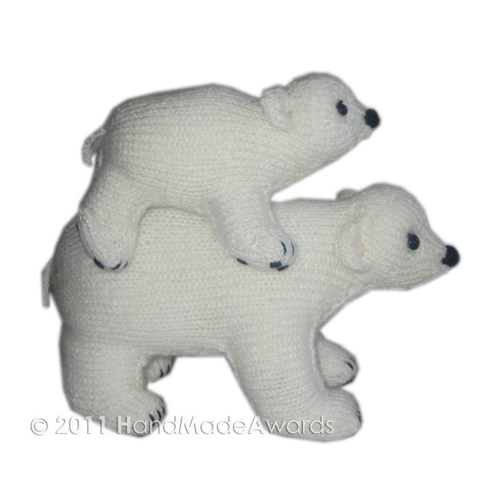 Daddy Bear and Junior are Walking on Ice PDF Email Knit PATTERN. $4.50, via Etsy.