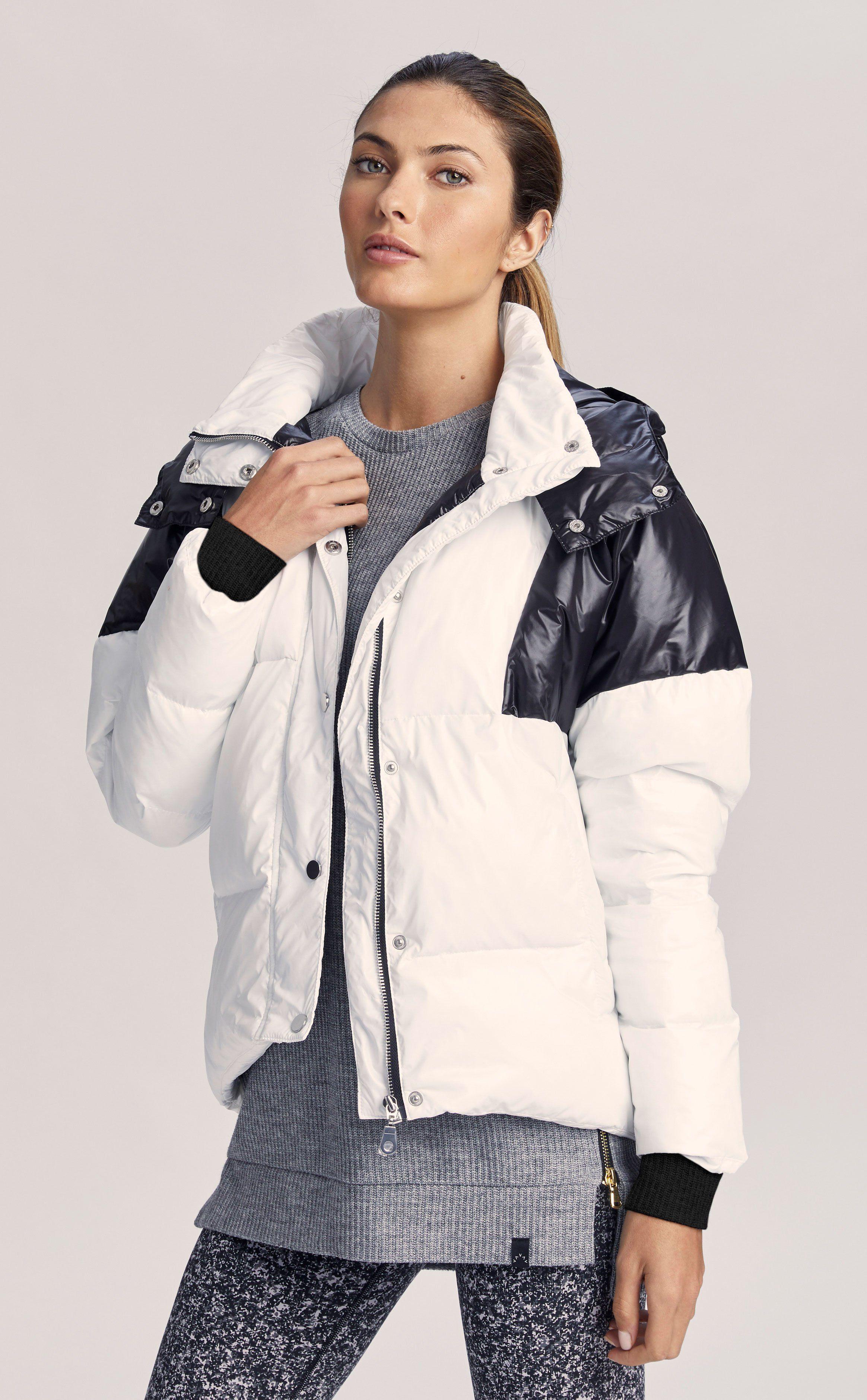Highland In Black And White Oversized Puffer Jacket With Removable Hood Varley Uk Jackets Latest Sweatshirts Black [ 3757 x 2328 Pixel ]