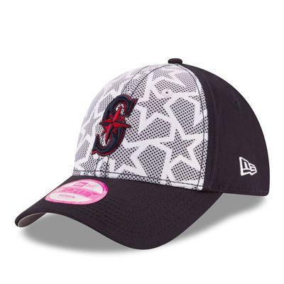 Women s Seattle Mariners New Era White Navy Stars   Stripes 9FORTY  Adjustable Hat 091bcb7c37