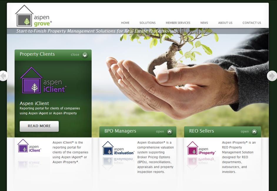 Aspen Grove website design