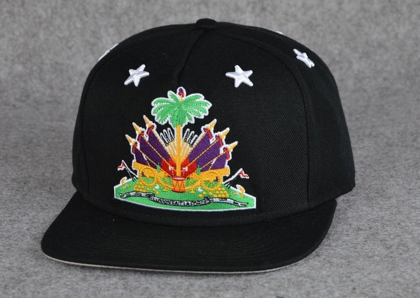 """Cre8tive.Irony X SnapsByCharles """"1804"""" SnapbackSnapback hat made in commemoration of Haiti's independence from France in 1804. Be sure to follow them on twitter and instagram: @Cre8tive.irony and @snapsbycharlesFabrication : 80/20 Acrylic BlendTHIS IS A PRE-SALE - IF purchased, hat will be shipped on official drop date of 7.31.15Shipping: 3-5 Business Days ( from drop date of ordered in presale ) **NO RETURNS- NO REFUNDS- ALL SALES ARE FINALE**"""
