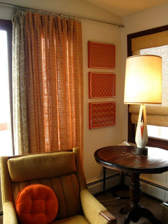 Bust of Mid Century Modern Curtains Home Decorations Ideas