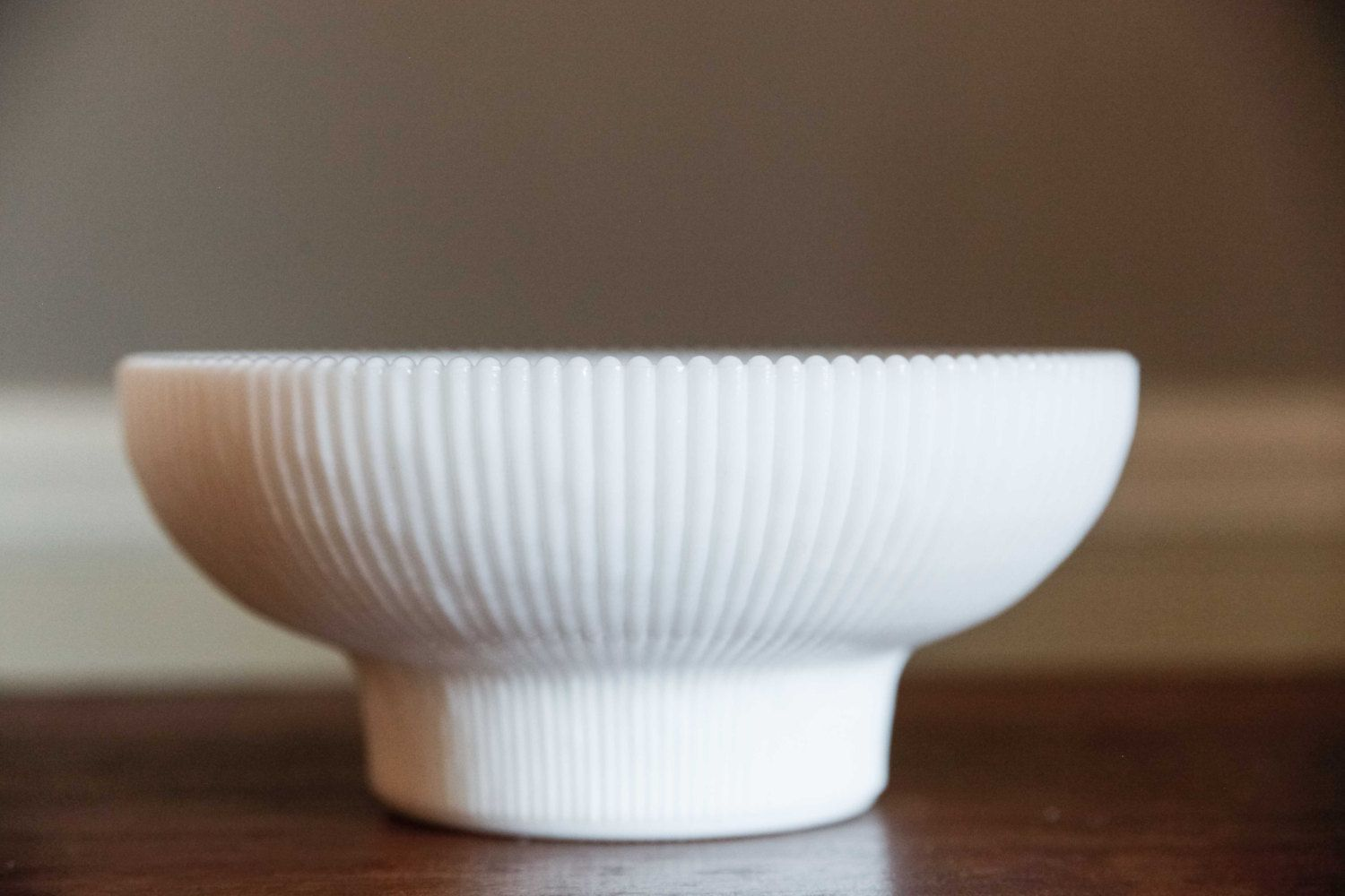 Hoosier Milk Glass Ribbed Bowl | Berry Bowl | Centerpiece | Coffee Table | Planter | Candy Dish ...