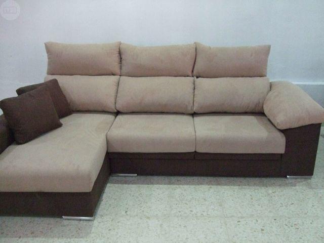 Magn fico sof con chaiselongue nuevo muy pleto de medida
