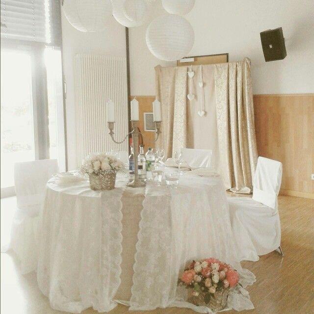Unser Brauttisch Brauttisch Vintage Wedding Liebe Hochzeit Happy
