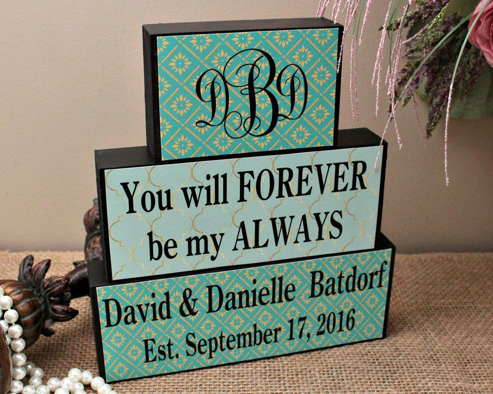 Bridal Shower Gift Personalized Wedding Gift Anniversary Present