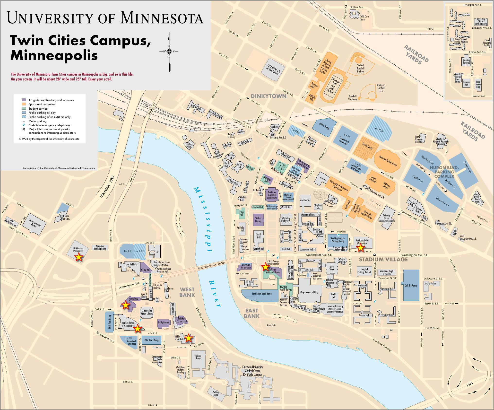 University Of Minnesota Twin Cities Campus Map Minneapolis Saint