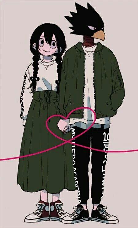 Tokoyami Fumikage & Tsuyu Asui | Anime wallpaper | Tokoyami boku no