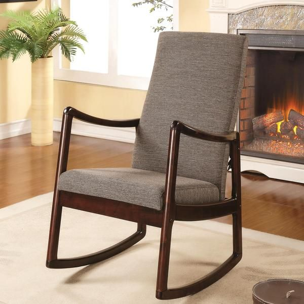 Amelia Contemporary Modern Upholstered Rocking Chair