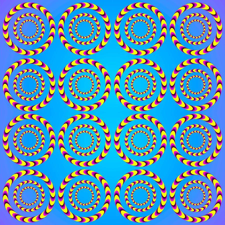 Optical Illusion Spinning Wheels Digital Art Optical Illusion Spinning Wheels Fine Art Print Optical Illusions Illusion Pictures Illusions