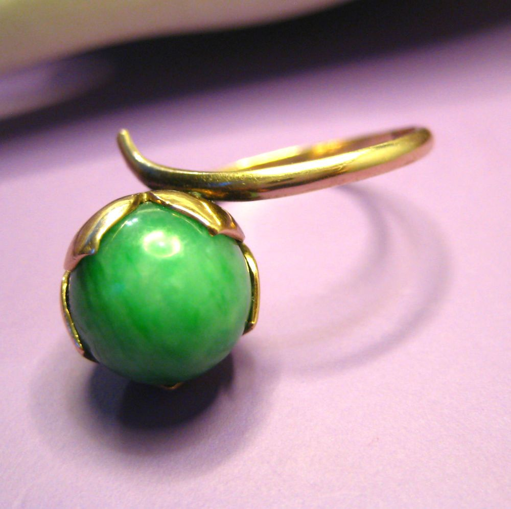 Wow - check out this wild and groovy retro vintage ring... #jade ...