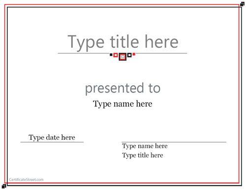 Blank Certificate  Award Certificate Template  Certificatestreet
