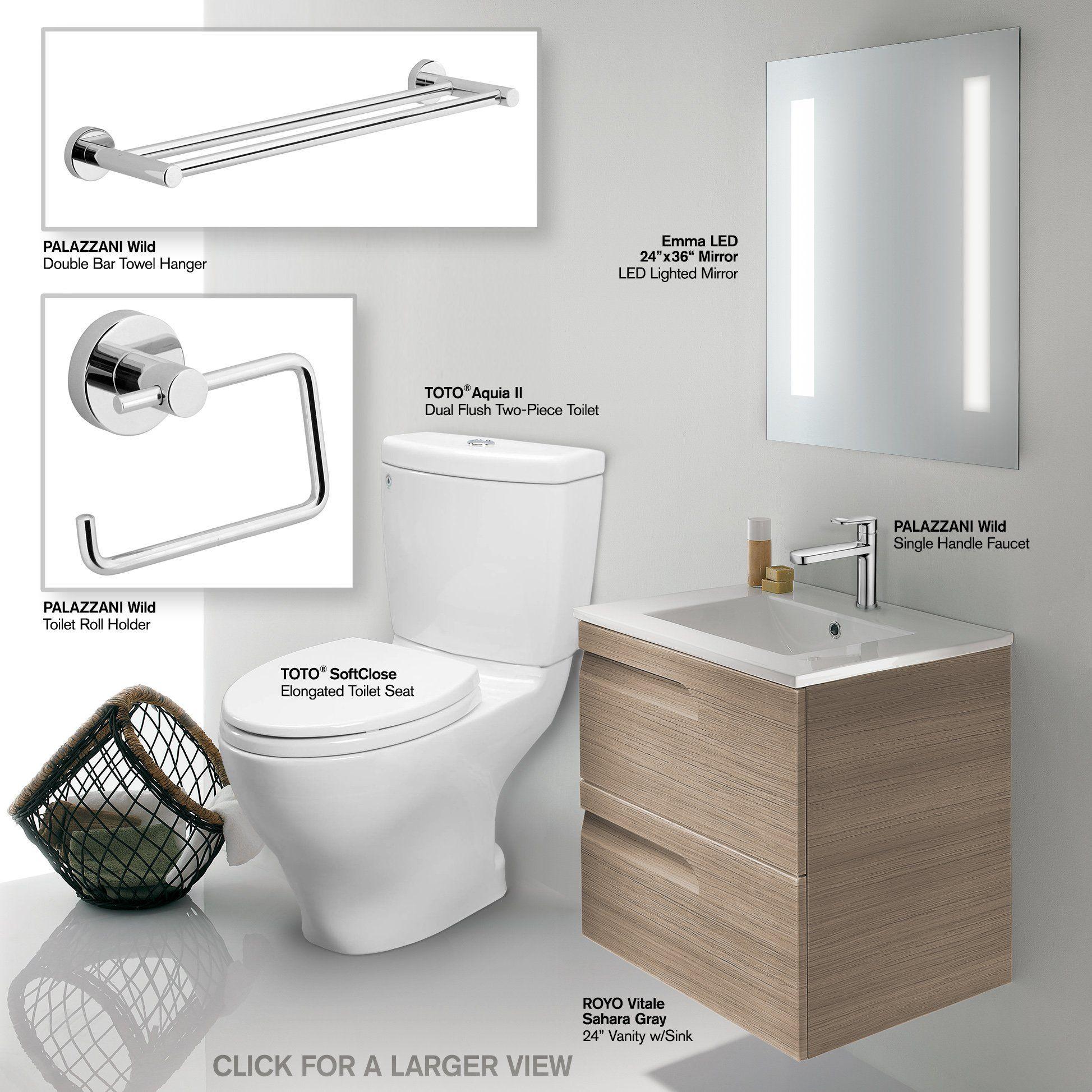 Bathroom vanity set includes toto cstm toilet