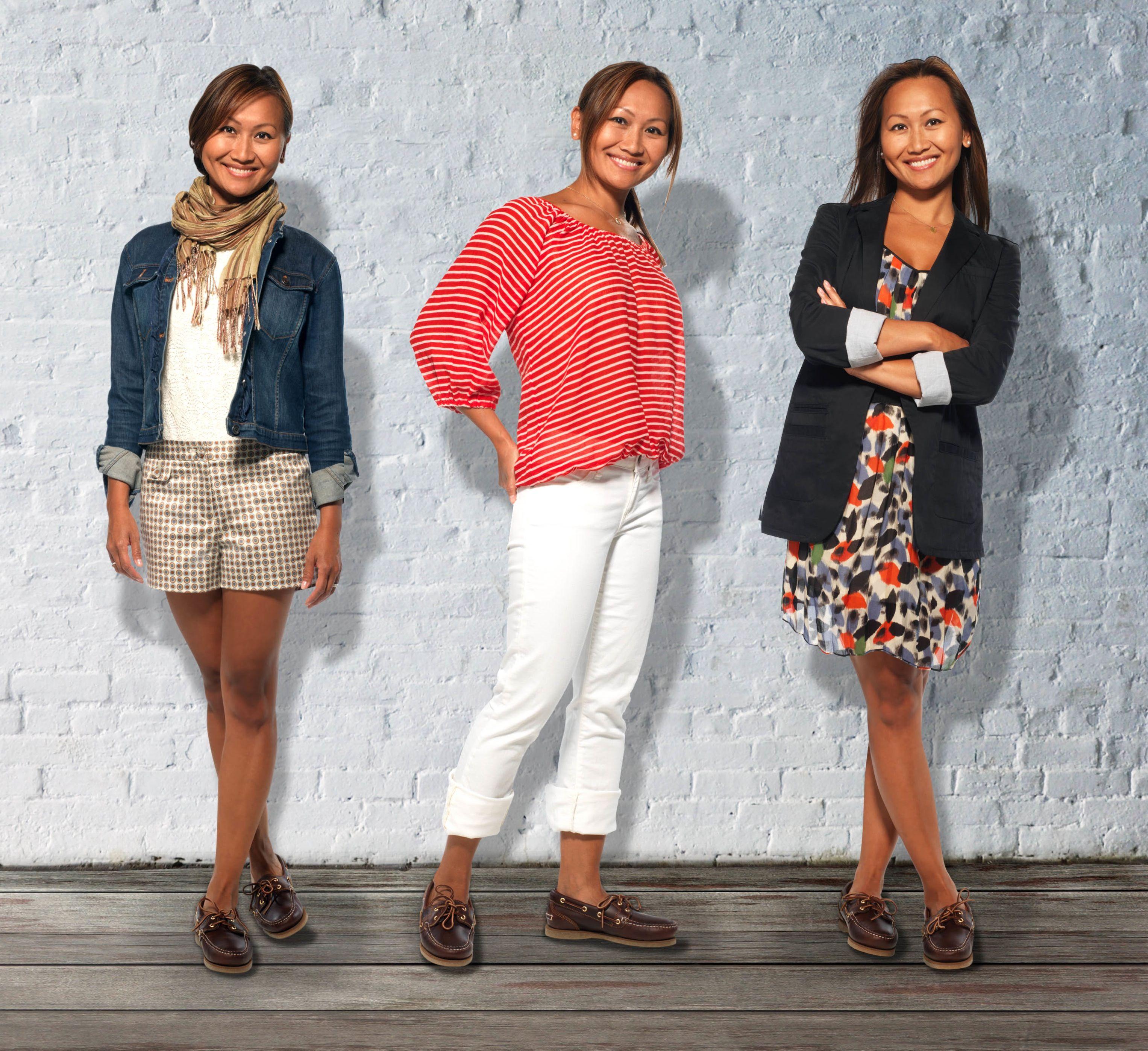 kaufen Wählen Sie für späteste große Auswahl One boat shoe, 3 outfits - at the office, a backyard BBQ or ...