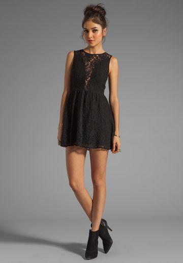 For Love Lemons Floral Lace Lulu Dress In Black At Revolve