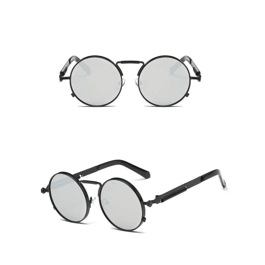 a13885b1f891a Classic Round Frame Unisex Steampunk Sunglasses. Óculos De Sol ...