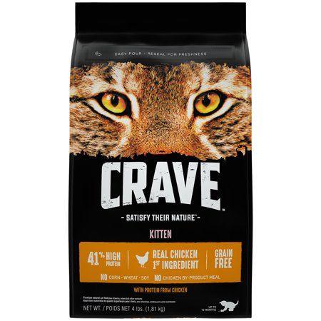 Crave Kitten Grain Free Chicken Recipe Dry Cat Food 4 Lb Cat Food Dry Cat Food Grain Foods