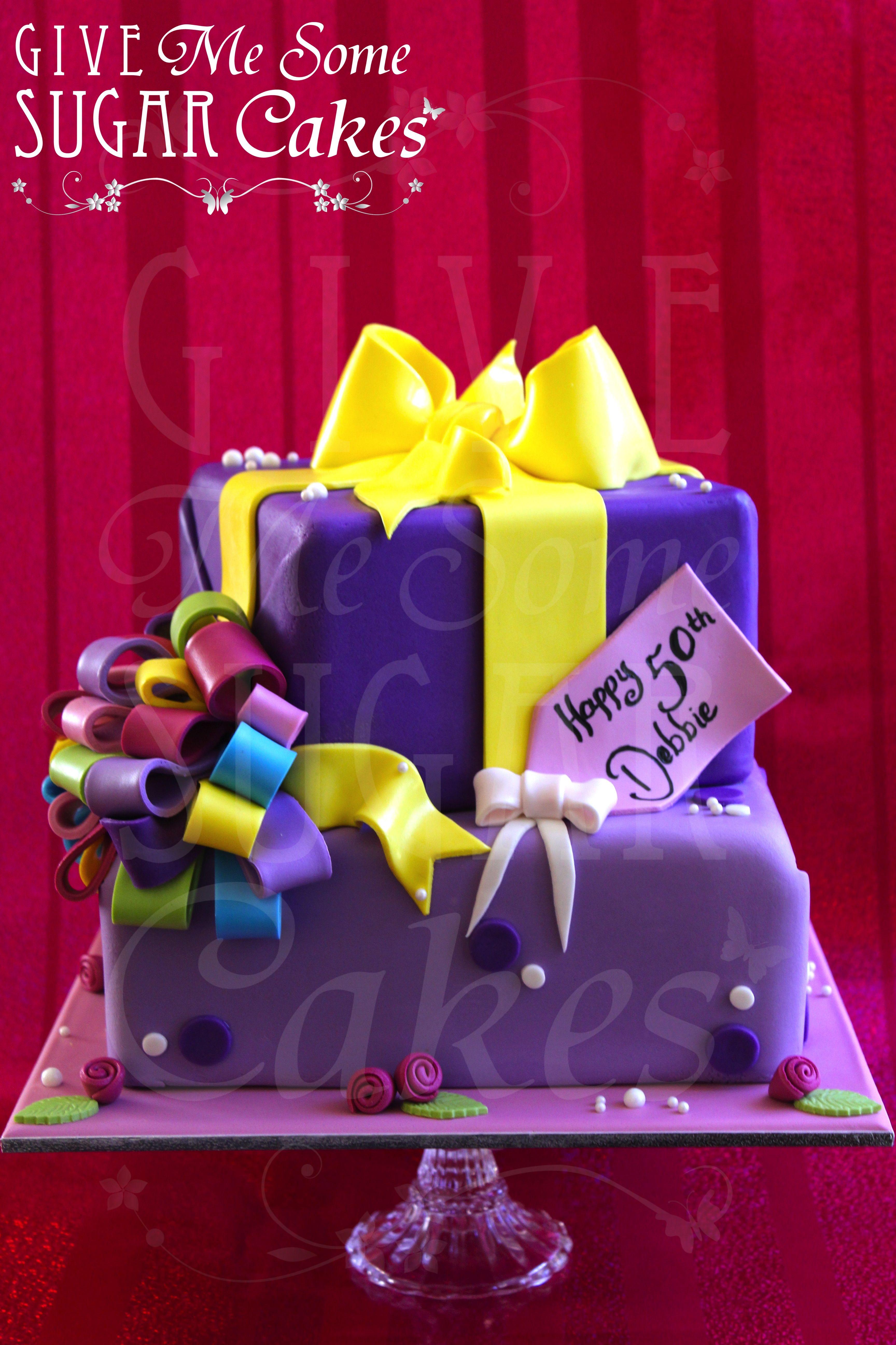 Present Cake Present cake, Gift box cakes, Cake