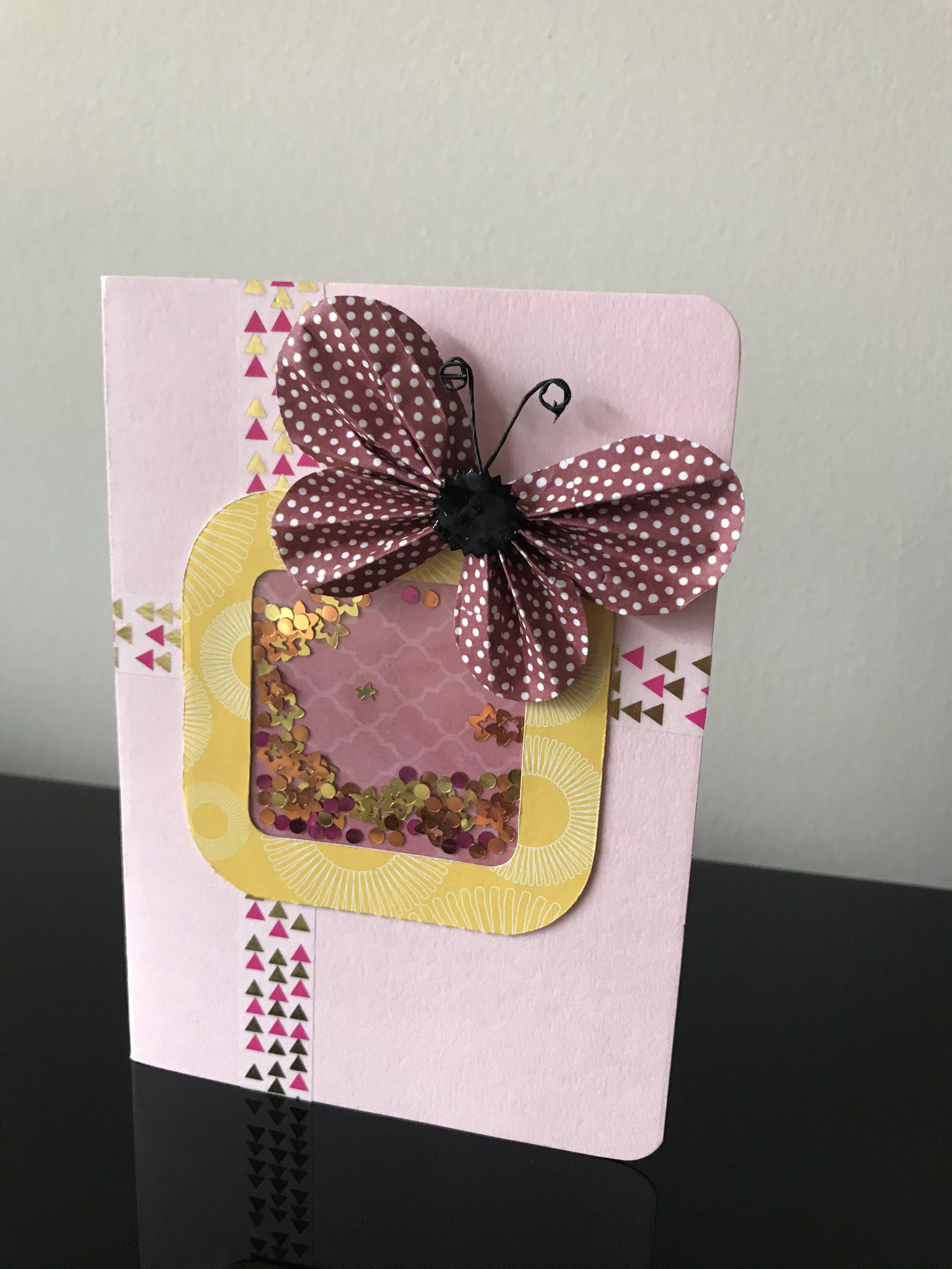 diy card handmade card embellishment shaker card diy