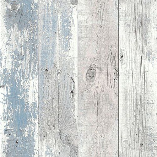 Driftwood Wallpaper Nautical Blue 670508 Driftwood Http Www Amazon Co Uk Dp B00xjng644 Ref Cm Sw Shabby Chic Wallpaper Chic Wallpaper Shabby Chic Living Room