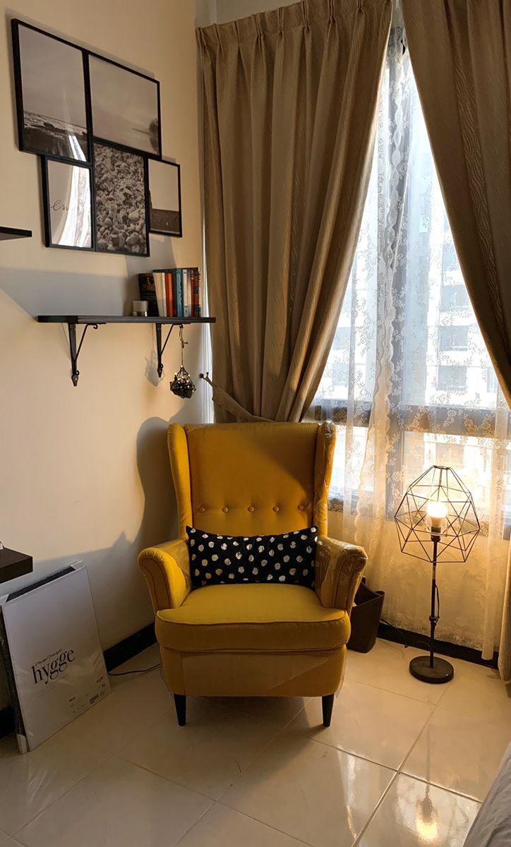 IKEA Strandmon Yellow in 2020 Corner reading nooks