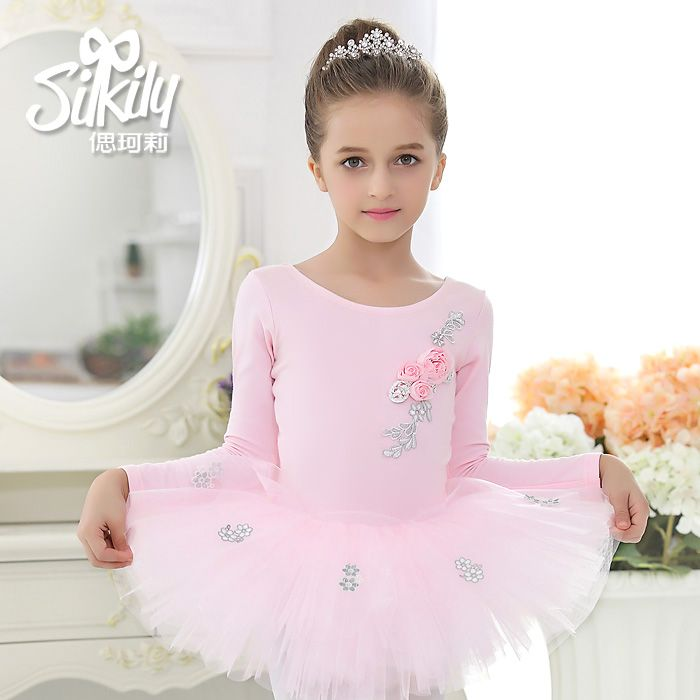 57d391e7d Retail Girls Children Kids Toddlers 3D Flowers Ballet Tutu Silver ...