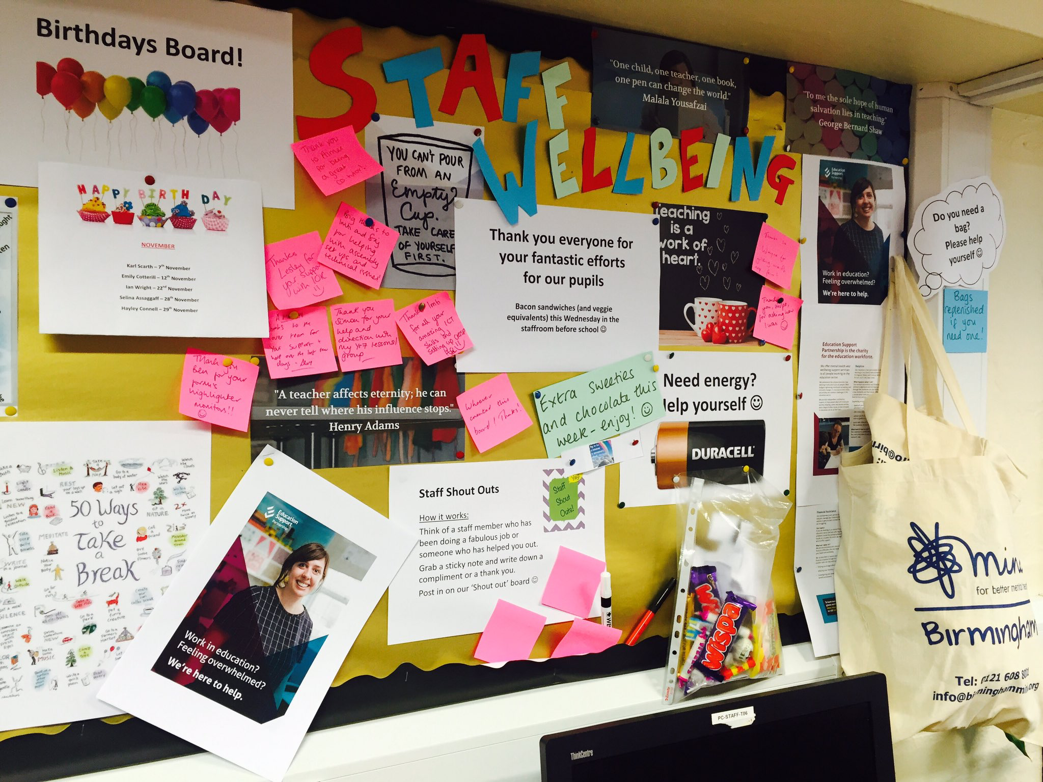 Well Being Staff Board From Stoneman Claire On Twitter