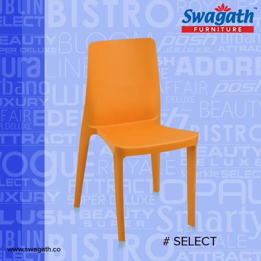 Stackable SELECT model #chair from Swagath is moulded in virgin polypropylene with a smooth backrest are designed especially for both indoor & outdoor purpose. Get more info at www.swagath.co !!