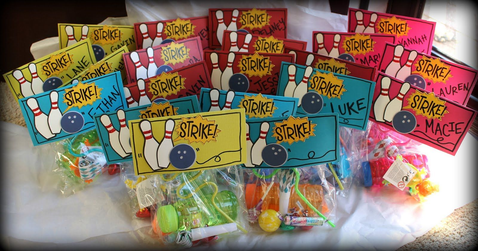 Bowling Party Ideas Bowling Party Goodie Bags Bowling