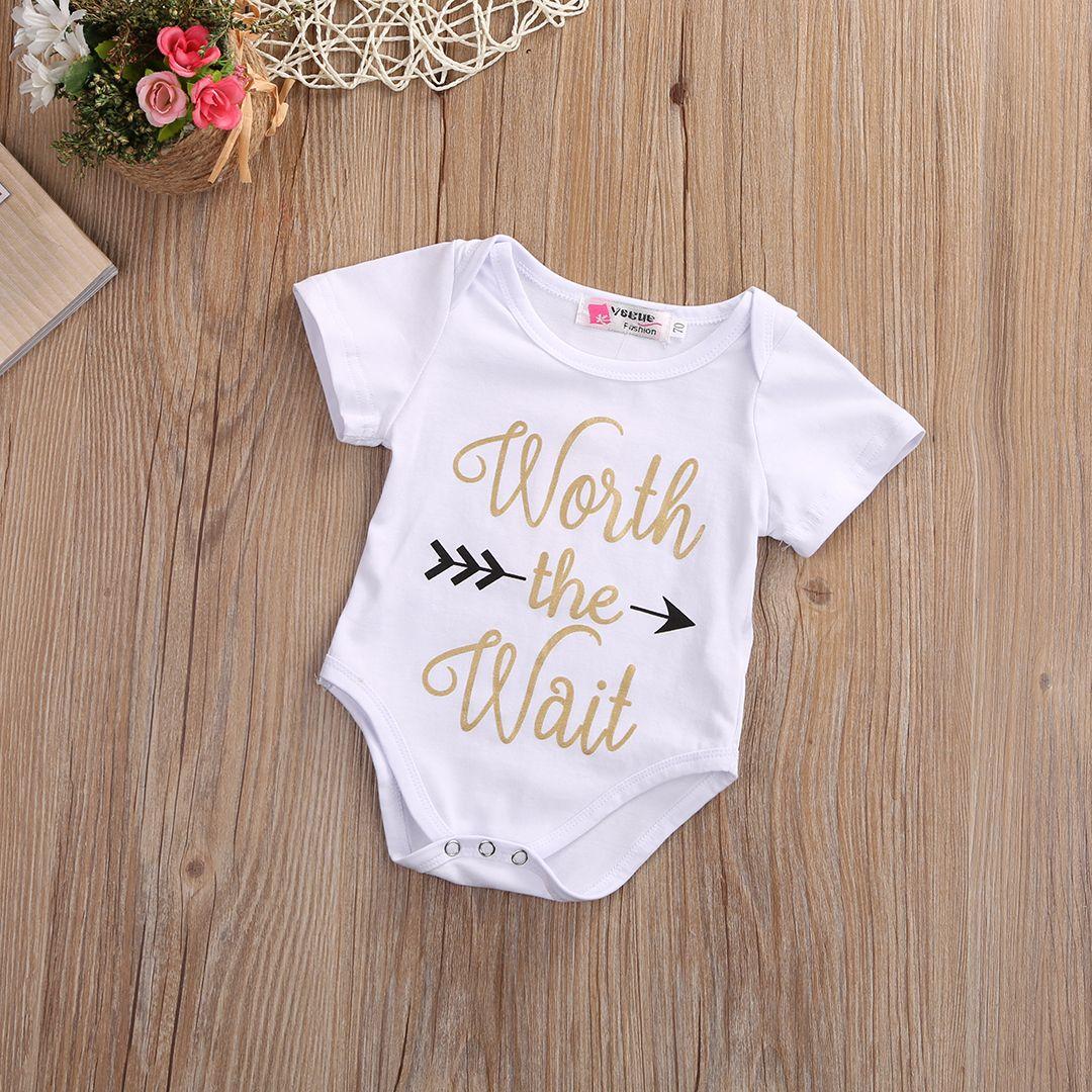679450628 2017 Summer Newborn Baby Boy Girl Romper Clothes Short Sleeve Worth ...