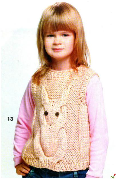 вязаная жилетка для девочки фото