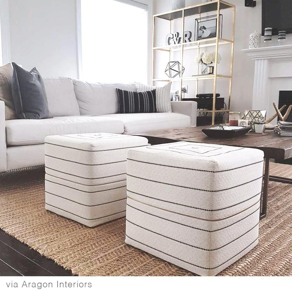 Toulouse Cube Ottoman Onyx Ottoman In Living Room Living Room