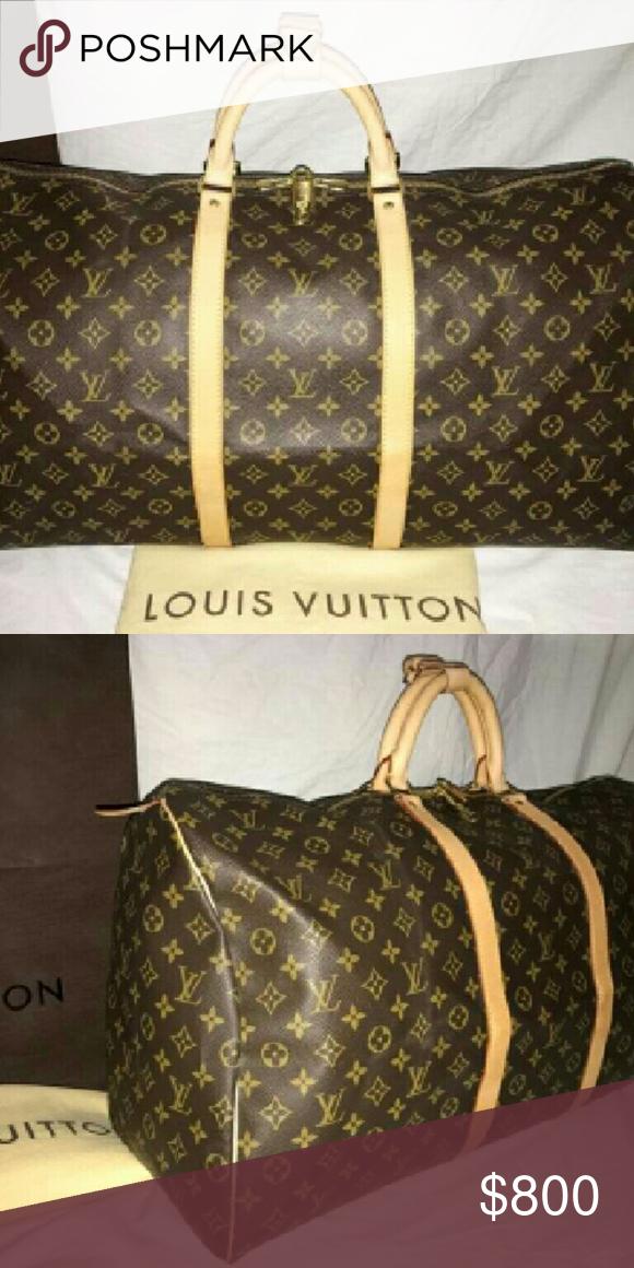 d2673a3d2218 Louis Vuitton monogram keepall travel duffle bag Authentic Louis ...