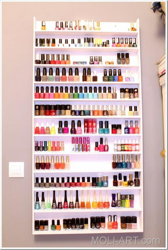estanteria-para-esmaltes-de-uñas | Organizador de esmaltes ...