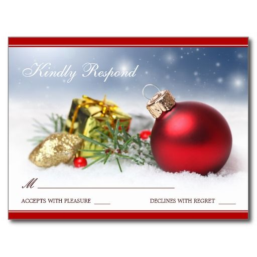 Christmas And Holiday Party RSVP Template Postcard Christmas And - party rsvp template