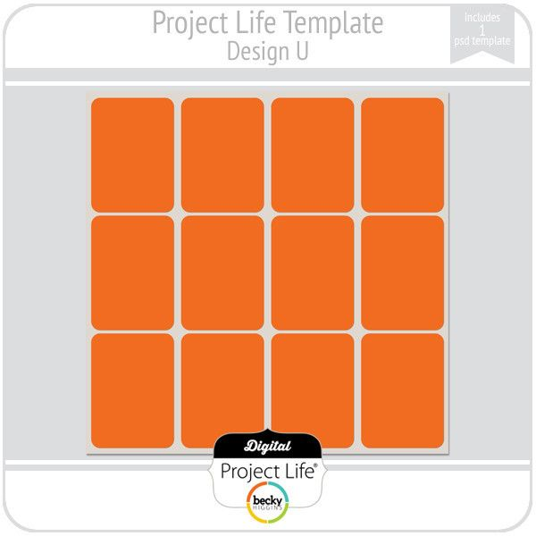 Project Life Template Design N  Project Life
