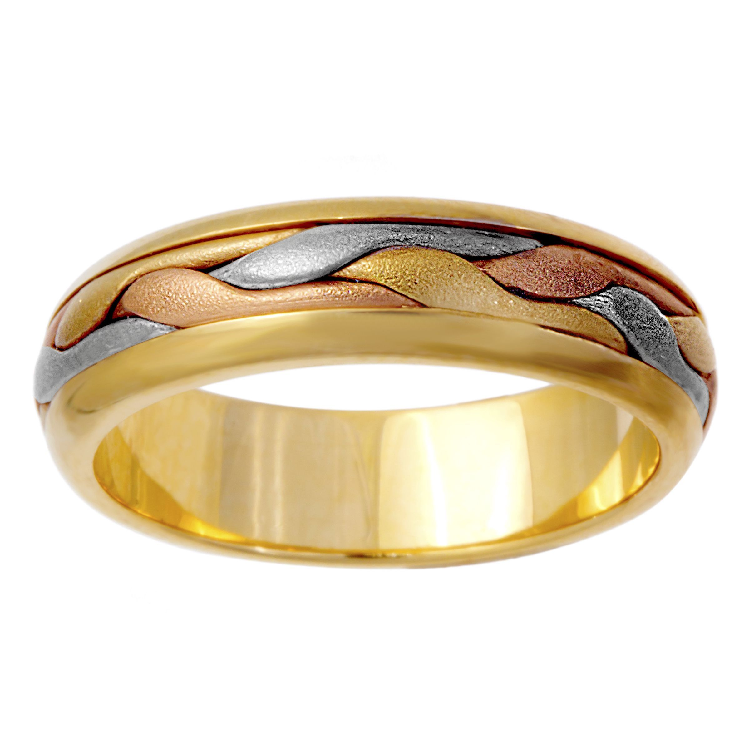 Men S Wedding Band 14k Tri Color Gold Jewelry Click Here For Ring Sizing Guide Mens