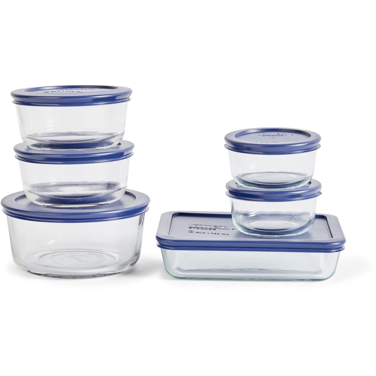 Pyrex Simply Store 12 Piece Set With Images Pyrex Kitchen Food Storage Glass Containers