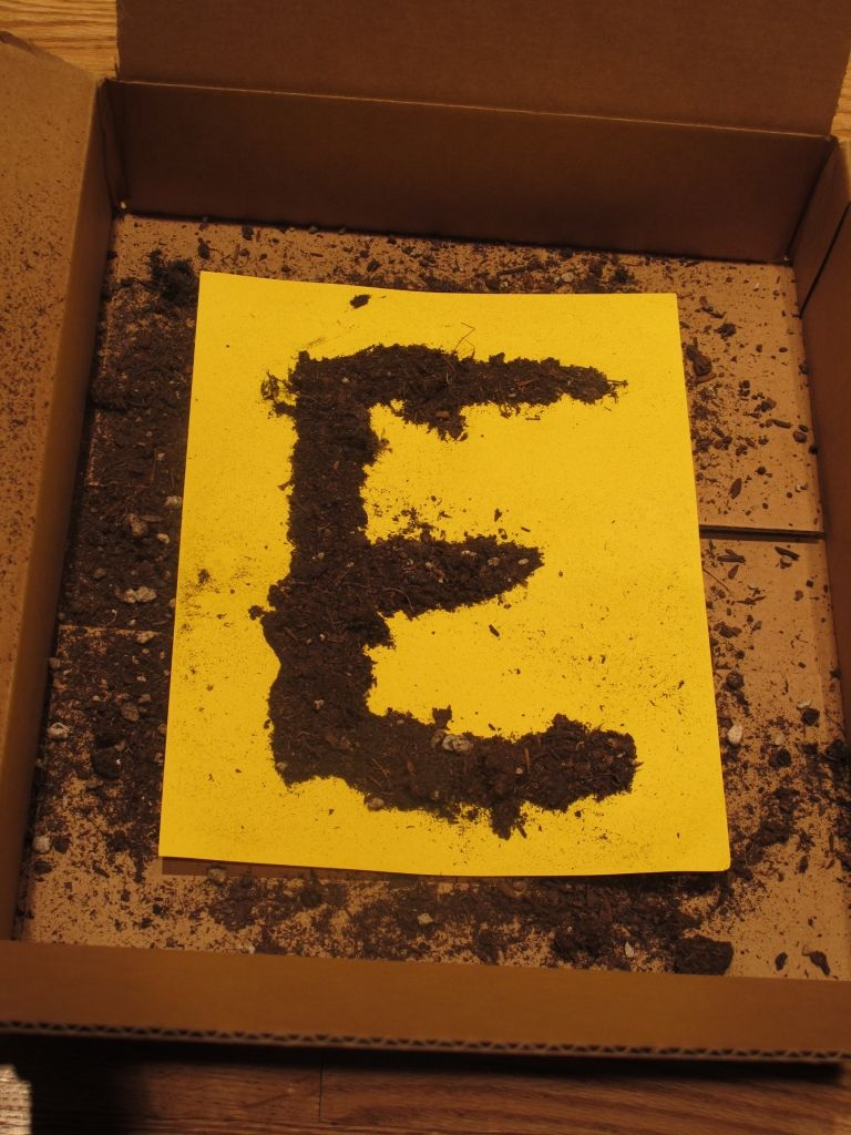 letter e preschool earth day activity