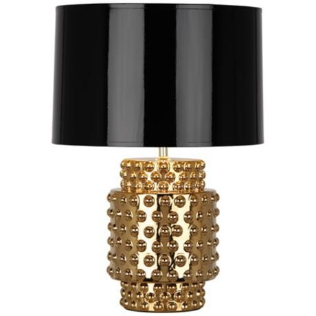 Robert Abbey Dolly Black Shade Gold Glaze Table Lamp 6p773 Lamps Plus Table Lamp Small Table Lamp Lamp
