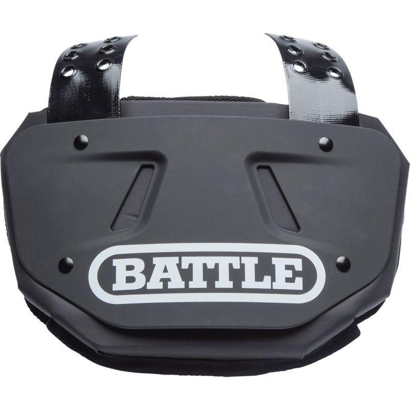Battle adult football back plate black football back