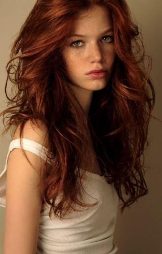 couleur cheveux roux foncé