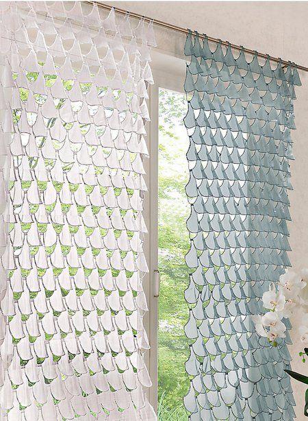 1 St GARDINE VORHANG 120 x 245 WEIß SCHLAUFEN SCHAL ORGANZA - gardinen und vorhänge für wohnzimmer