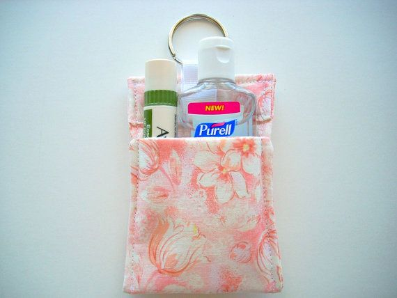 Lip Balm Cozy Hand Sanitizer Holder Lipstick Purse By Busyascanb