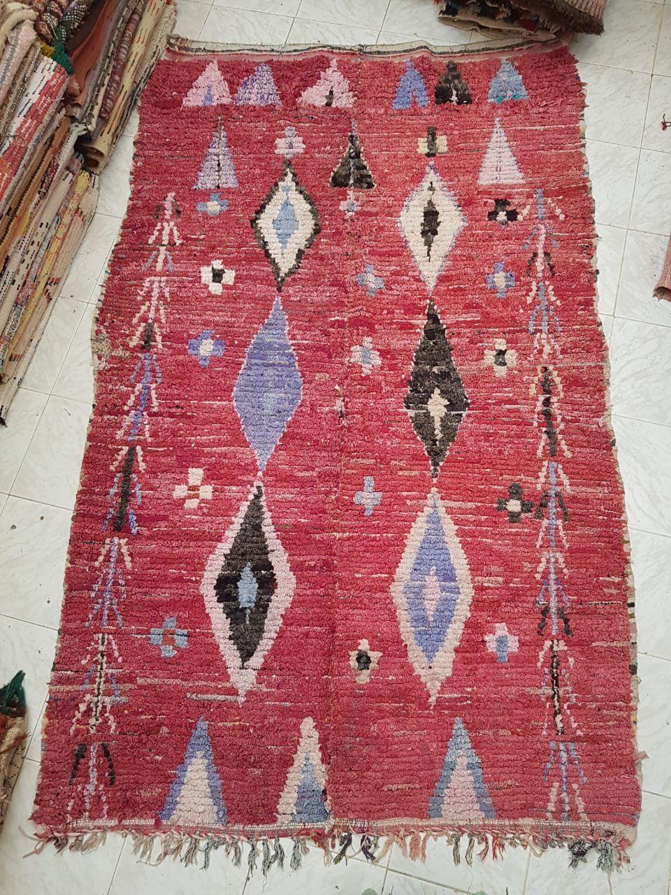 Vintage Boujad Rug 5 X8 Moroccan Carpet Berber Rug Etsy Moroccan Carpets Boujad Rug Berber Rug