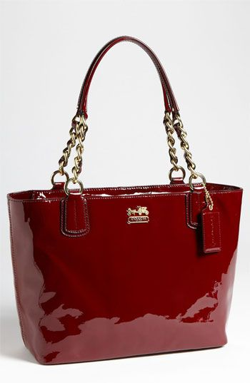 Coach Madison Patent Leather Tote Available At Nordstrom More