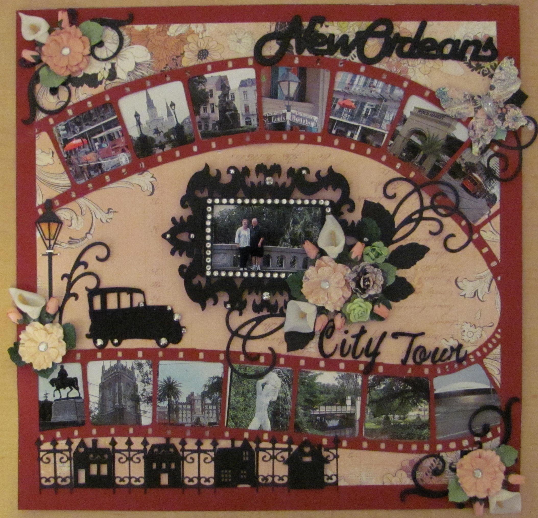 Scrapbook ideas new orleans - New Orleans City Tour Scrapbook Com