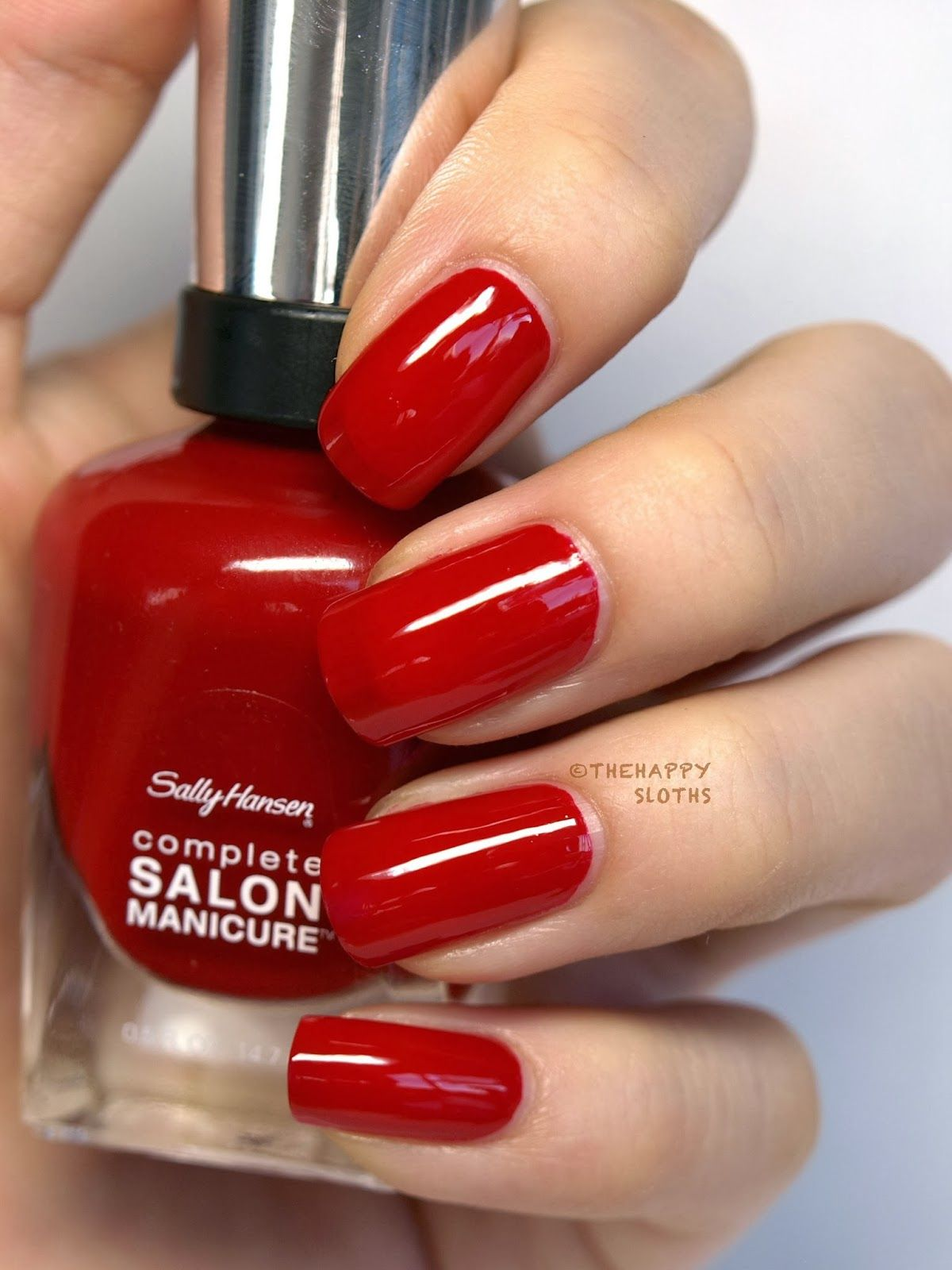 The Hy Sloths Sally Hansen Complete Salon Manicure Nail Polish In Red My Lips Put This On Nails And Chanel Le Vernis Colour Mirabella